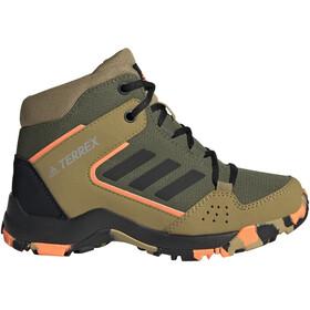 adidas TERREX Hyperhiker Hiking Shoes Kids wild pine/core black/screaming orange